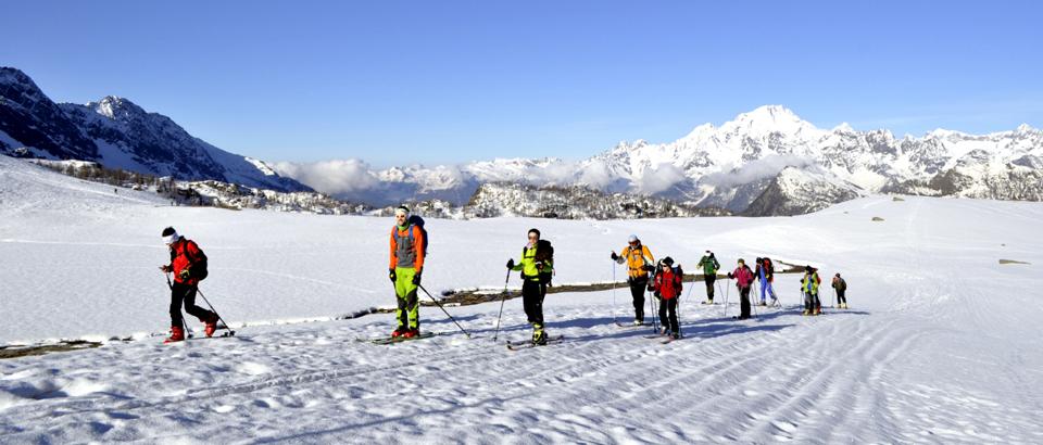 Sci-alpinismo al Pizzo Scalino